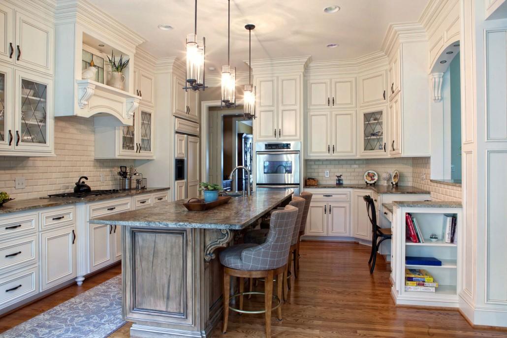 custom kitchen cabinetswhite kitchenpainted cabinetsislandmantle hooddisplay - Custom Kitchen Cabinets Charlotte Nc